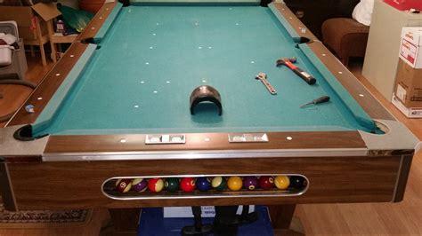 small slate pool table identify slate pool table with ball return