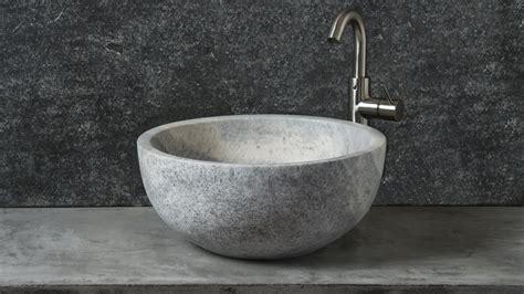 Rundes Waschbecken Bad by Rundes Waschbecken Aus Grauem Travertin Fiano