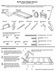 Assembly Instructions For The F310  F410  And F300 Wagons