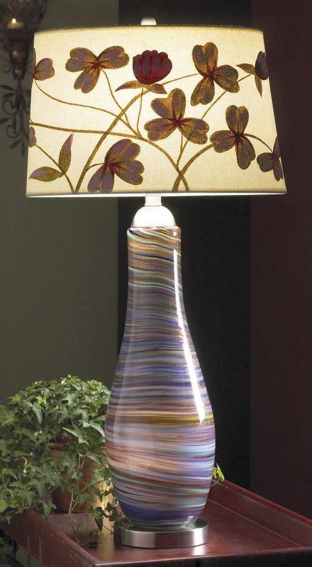 ls with night lights in them lite source ls 20519 purple swirl 1 light art glass l