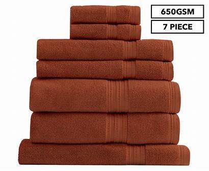 Burnt Egyptian Cotton Orange Renee Taylor Towel