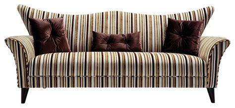 Settee Toronto by Regan Striped Fabric Settee Contemporary Sofas