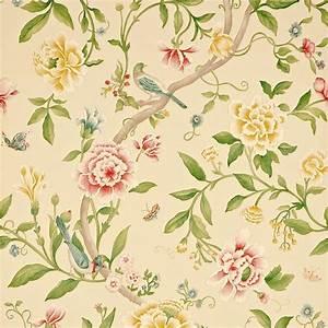 Porcelain Garden Wallpaper - Red/Beige (DCAVPO104