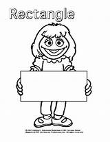 Coloring Pages Sesame Street Rectangle Shapes Preschool Activities Toddler Learning Shape Toddlers Kindergarten Sheets Elmo Printable Prair Re Getcoloringpages Ages sketch template