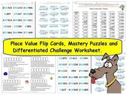 ks2 y5 place value differentiated challenges flip cards mastery reasoning problems by tes222