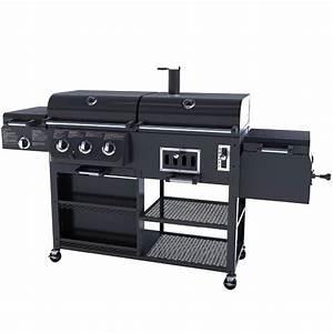 Gas Kohle Grill Kombination : gas holzkohle raucher combo kombination hybird bbq grills ~ Watch28wear.com Haus und Dekorationen