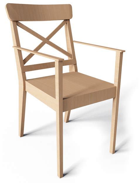 Cad And Bim Object  Ingolf Chair With Armrest Ikea