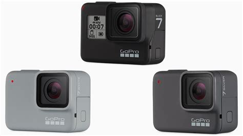 gopro hero black silver white action cameras