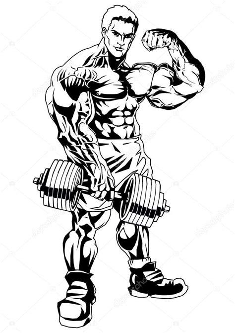 Kleurplaat Crossfit by Bodybuilder Big Biceps Stock Photo 169 Orrlov 75028089