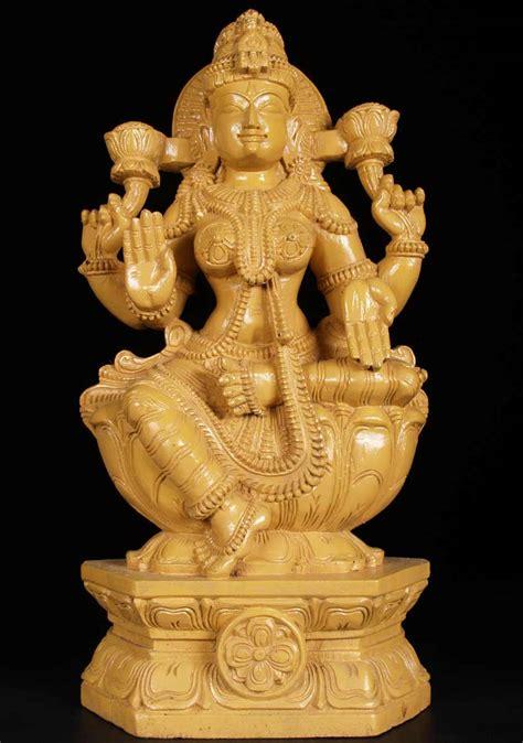 SOLD Wooden Lakshmi Statue 24