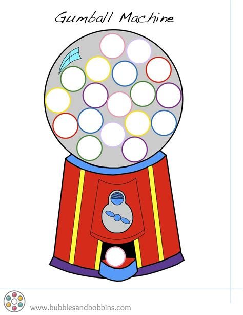 gumball machine template gumball machine pompom template