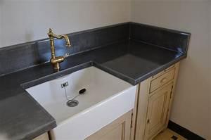 Plan De Travail De Cuisine : plan de travail de cuisine en zinc ~ Edinachiropracticcenter.com Idées de Décoration