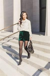 Elegant Textures :: Velvet Shorts + Silk Blouse - Color & Chic