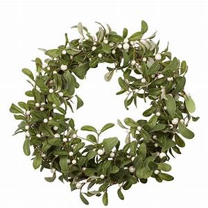 mistletoe christmas wreath by the christmas home