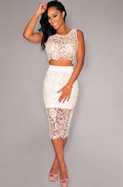 sexy white lace high waist sleeveless dress