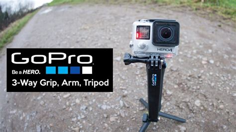gopro introducing 3 way grip arm tripod review youtube