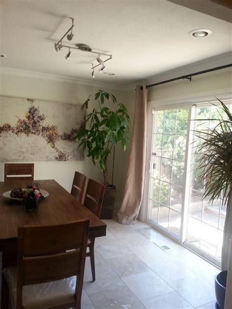 matching curtains  open floor plan