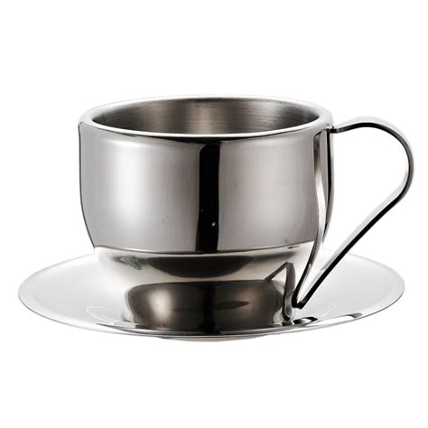 Double wall coffee cup manufacturers & wholesalers. Double Walled Stainless Steel Coffee/Tea Cup and Saucer, 250 ml - Healthy Researcher