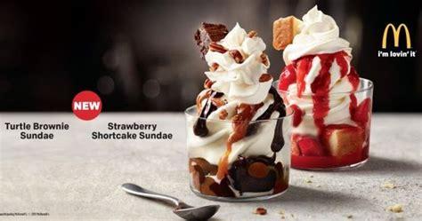 mcdonalds testing  turtle brownie  strawberry