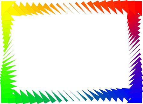 colorful border free rainbow border cliparts free clip free