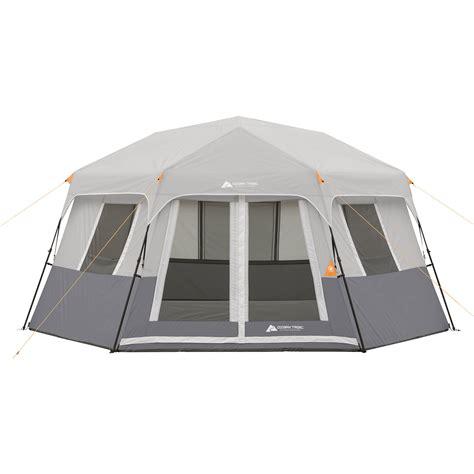 ozark trail 8 person instant cabin tent ozark trail 8 person instant hexagon cabin tent ebay