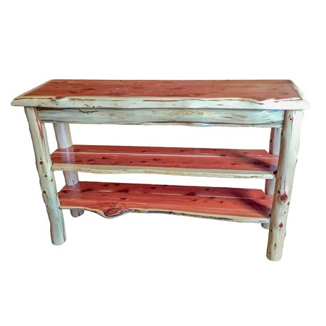 rustic tv console table tv stand console table