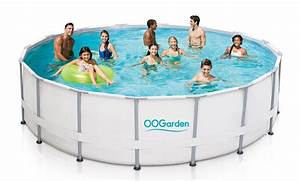 Piscine Tubulaire Oogarden : piscine tubulaire 4 88 x 1 22 m filtre sable oogarden ~ Premium-room.com Idées de Décoration