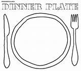 Plate Coloring Pages Seder Dinner Colorings Printable Getcolorings sketch template