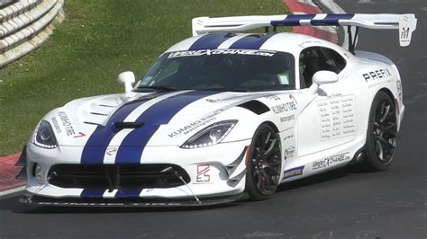 Viper Acr Nurburgring Time by 2017 Dodge Viper Acr N 252 Rburgring Record Attempt