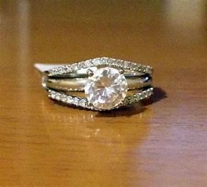 14k Yellow Gold Solitaire Enhancer Diamonds Ring Guard