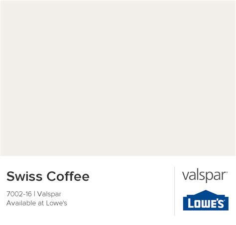 swiss coffee 7002 16 valspar paint colors