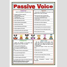 Passive Voice (present Simple)  Passive Voice  Pinterest  English, Worksheets And English Grammar