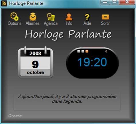 horloge bureau windows horloge parlante logiciel pc