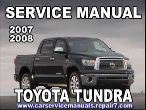 old car manuals online 2008 toyota tundra auto manual toyota tundra 2007 2008 service manual car service youtube