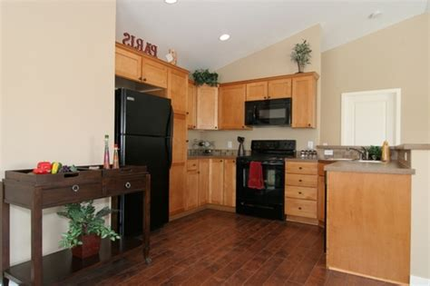 wood floors and cabinets