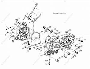 Polaris Atv 2009 Oem Parts Diagram For Engine  Crankcase