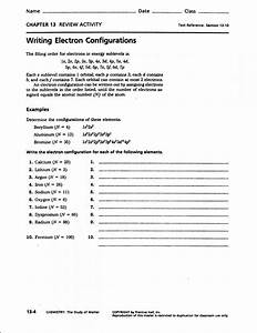 Electron Configuration And Dot Diagram Practice Worksheet Answers