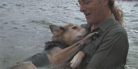 man  devotion  dog  viral   puppy