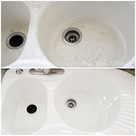 how to clean a stained sink how to clean a porcelain sink stains kitchen sinks and bar