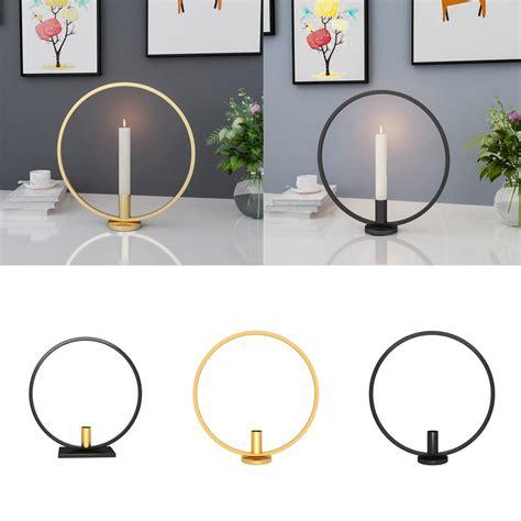 3d geometric round iron candle holders tea light wall