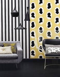 Papier Peint Rayé : 30 id es pour relooker vos murs elle d coration ~ Melissatoandfro.com Idées de Décoration