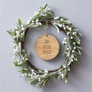 mistletoe personalised christmas wreath by sophia victoria