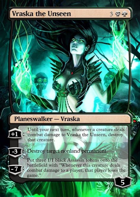 Vraska The Unseen Deck by 1252 Best Magic Images On Altered
