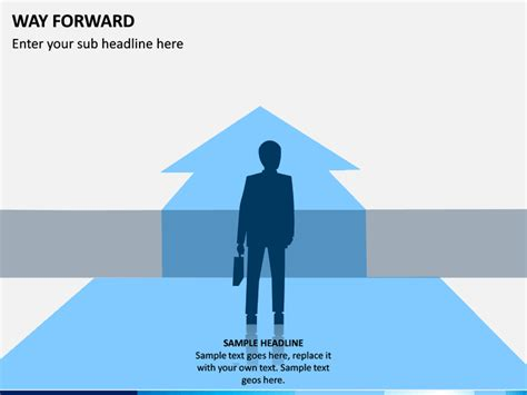 Way Forward PowerPoint Template   SketchBubble
