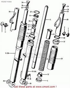 Honda Cl70 Scrambler 1969 K0 Usa Front Fork