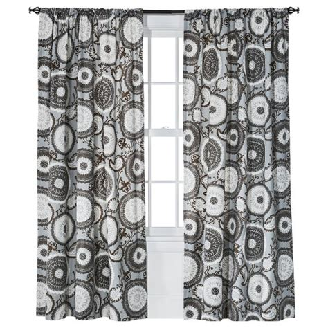 grey medallion curtains target threshold farrah medallion curtain panel target