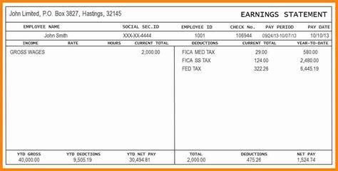 printable pay stubs simple salary slip