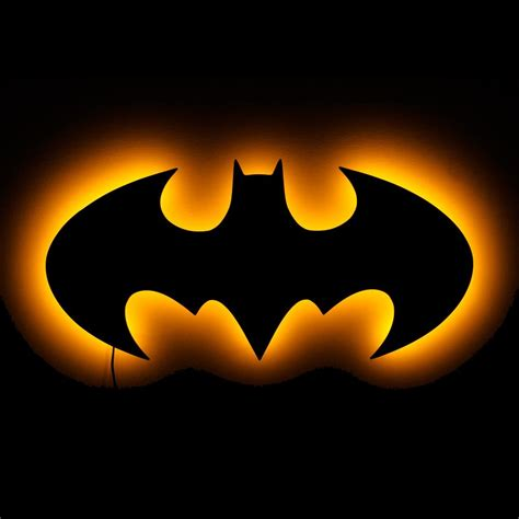 lighted batman logo wall lighted wall and symbolic lights 20 quot w 9 5 quot h