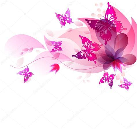 farfalle e fiori sfondo con farfalle e fiori dell acquerello vettoriali