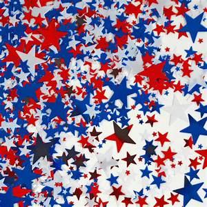 Red, White & Blue Stars Metallic Confetti Patriotic